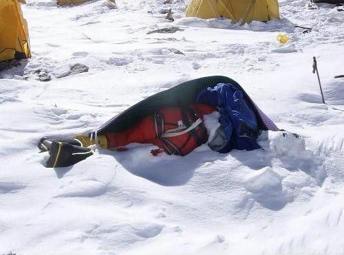 �穆朗瑪峰上的�體,看後還敢登�峰嗎?